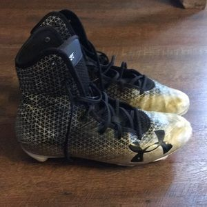 UA hightop football cleats
